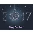 Happy New Year 2017 Snowflake background vector image vector image