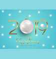 happy new year background with hanging baubles vector image vector image