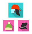 headgear and cap logo vector image