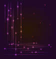 hi-tech background with glowing string luminous vector image vector image