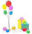 holiday invitation or photozone accessory vector image