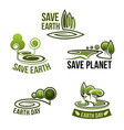 icons for earth nature ecology environment vector image vector image