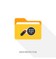 internet security and data protection concept vector image vector image