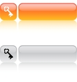 Key square button vector image vector image