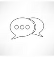 line speech bubble vector image