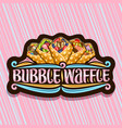 logo for bubble waffle vector image vector image