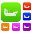 marine ship set collection vector image