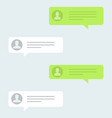 messages bubbles in trendy flat design chat vector image vector image