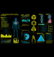 modern medical examination in hud style design ul vector image vector image