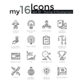 Modern thin line icons set of startup business and vector image vector image