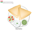 Nahud Sambusa or Tajik Fried Dumpling vector image vector image
