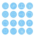 Navigation icon and buttons set of different vector image