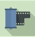 negative film camera icon flat style vector image vector image