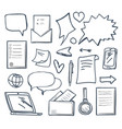 office messages and thought bubbles set vector image vector image