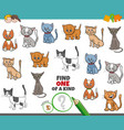 one a kind game for children with cats vector image vector image