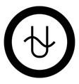 ophiucus symbol zodiac icon black color in round vector image vector image