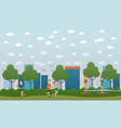 outside training concept flat vector image vector image