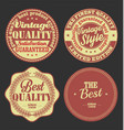 pastel color vintage labels collection 1 vector image vector image