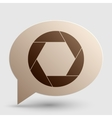 Photo sign Brown gradient icon on vector image vector image