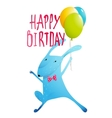 Rabbit Greeting Happy Birthday Card for Children vector image vector image