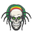 rastaman skull vector image