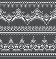 retro french or english lace seamless pattern vector image vector image