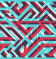 retro geometric seamless texture vector image vector image