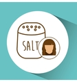 salt shaker icon cook female avatar vector image