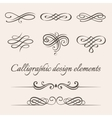 set of calligraphic and page decoration vector image vector image
