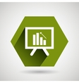 statistics icon design vector image vector image