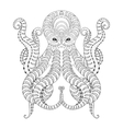Tattoo Octopus Hand drawn zentangle tribal vector image vector image