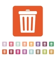 The trashcan icon Dustbin symbol Flat vector image