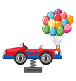 toy car with colorful balloon