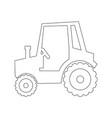 tractor vehicle icon vector image vector image