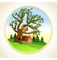 Village summer landscape background vector image vector image