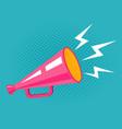vintage pink megaphone vector image vector image