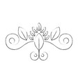 vintage swirl decoration vector image