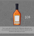 whiskey in brown glass bottle card vector image vector image