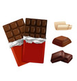 white and dark chocolate pictures of vector image