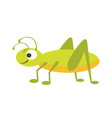 funny vigorous grasshopper with big eye and long vector image