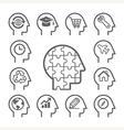 Head line icons set vector image