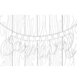 Lettering carnival in doodle stiles on the wood vector image