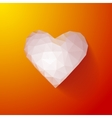 Valentines Day Heart Balloons on Orange Background vector image