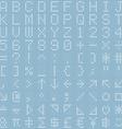 white dot digital font and symbol set vector image