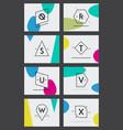 81 hipster logo set vector image