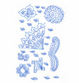 a winter decorative pattern vector image
