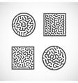 abstract bio shapes vector image