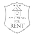 agency fact apartments logo and pictures vector image