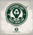 alternative eco friendly light stamp vector image