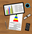 annual statistical analytics vector image vector image